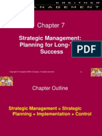 Ch07 Strategic Management Planning for Long Term Success
