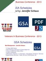 Veterans In Business - GSA Schedule Considerations