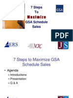 Government Contracting - 7 Steps to Maximizing Your GSA Schedule