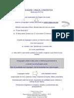 Linguagem Lingua Linguistica