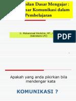 Dasar Dasar Komunikasi Dalam Pembelajaran PDF