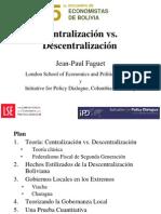 Centralizacion vs Descentralizacion