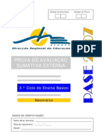 Prova Mat9 2007
