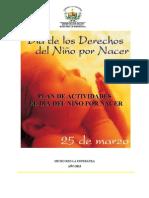 PLAN DE ACTIVIDADES NIÑO POR NACER MICRO RED LA ESP 2013