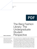 the Berg Fashion Library-the Undergdraduate Student Perspective
