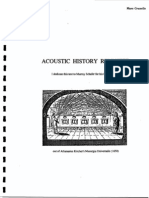 Acoustic History Revisited