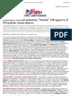 Quirinale, Bersani annuncia