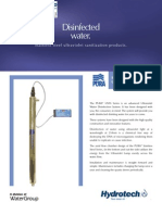 Water Disinfection UV PURA UVSS Ultraviolet Water Disinfection System ENGLISH Brochure