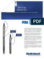 Water Disinfection UV PURA UVSS Ultraviolet Water Disinfection System FRENCH Brochure