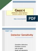 Geant4 Sensitivity Field