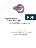 Introduction to Tensor Calculus and Continuum Mechanics (J.