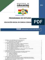 Programa Estudio Educacioninicial Enfamilia Comunitaria