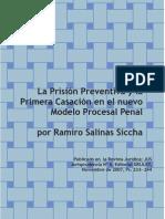 Articulo Sobre La Prision Preventiva- Ramiro Salinas Siccha