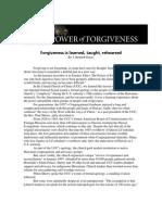 Forgiveness is Learned