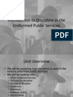 Introduction to Discipline in the Uniformed Public Services