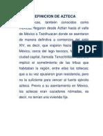 Definicion de Azteca