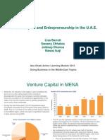 Venture Capital & Entrepreneurship in the U.A.E.
