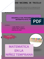 Didáctica de las Matemáticas En Educación Inicial