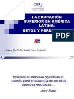 LA EDUCACIÓN EN AMÉRICA LATINA RETOS Y PERSPECTIVAS TALLER 27 MAYO 2010.ppt