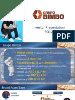 Presentacion Inversionistas 3Q12 FINAL