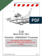 Emergency Procedures Checklists