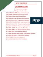 many java Programs