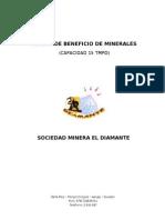 PLANTA DE BENEFICIO SOCIEDAD MINERA EL DIAMANTE.doc