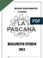 Reglamento Interno Del Cetpro La Pascana 2012