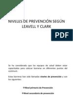 80721526 Niveles de Prevencion Segun Leavell y Clark