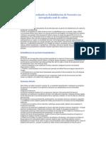 Protocolo realizado en Rehabilitación de Pacientes con Artrosplastía total de cadera