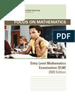 Focus on Math