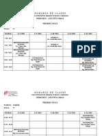 Rol de Exámenes parciales Ingeniería de Sistemas 2013-I