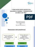 Habilidades metalingüísticas, desarrollo normal y presentación