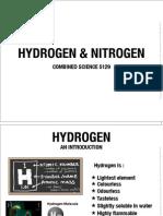 Hydrogen and Nitrogen