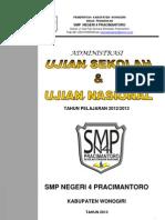 Administrasi Ujian Nasional SMP 2012 2013