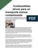 HidrógenoCombustibles alternativos para un transporte menos contaminante