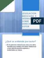 Legislacion Mexicana e Internacional Sobre Derechos de Autor