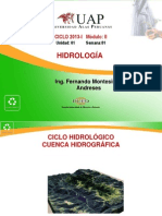 Semana 1 - Ciclo Hidrologico-Cuenca Hidrografica