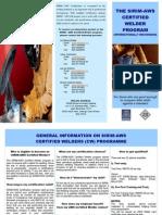 SIRIM-AWS Certified Welder (CW) Brochure 2013
