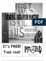 Criminal Behavior Fanzine, Issue 5