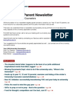 Winter 2012 Parent Newsletter