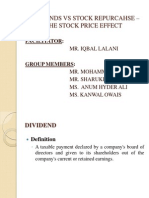 DIVIDENDS VS STOCK REPURCAHSE – THE STOCK PRICE