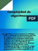Complejidad de Algoritmos Presentacion