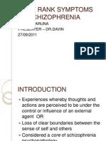 first rank symptoms of schizophrenia