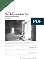 Toward the Non-(Re)Presentational Actor
