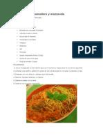 Spaguetti Con Pomodoro y Mozzarela