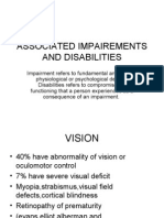 Associated Impairements and Disabilities in cp