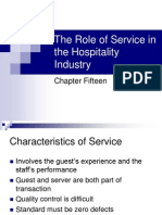 15-The Role of Service in the Hospitality Industry