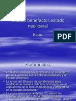 Estado Benefactor Estado Neoliberal (1)