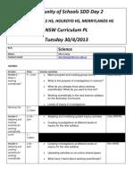 Combined Schools SDD - Science Agenda for Participants